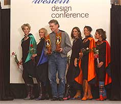 Bill and models at Western Design Conference